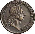 1723 Rosa Americana Twopence. Martin 4.2-E.7, W-1346. Rarity-5. EF-40, Engraved