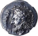 ITALY. Bruttium. Lokroi Epizephyrioi. Fourree Stater (6.85 gms), ca. 375-330 B.C. NGC Ch VF, Strike: