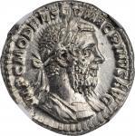 MACRINUS, A.D. 217-218. AR Denarius (3.00 gms), Rome Mint, A.D. 217. NGC MS, Strike: 4/5 Surface: 4/
