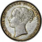 Victoria (1837-1901), Shilling, 1851, second young head left, rev. crown over value in wreath (ESC 2
