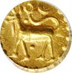 1800-50年泰国北大年吉兰丹1古邦金币。THAILAND. Patani-Kelantan. Kupang, ND (1800-50). PCGS MS-64 Gold Shield.