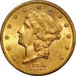 1887-S Liberty Head Double Eagle. MS-63 (PCGS).