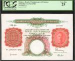 1945年马来亚货币发行局一佰圆。