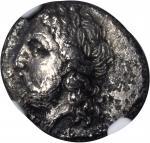 THESSALY. Ainianes. AR Hemidrachm (2.46 gms), ca. 400-344 B.C.