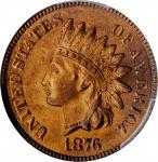 1876 Indian Cent. MS-65 RB (PCGS).