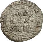 Monete e Medaglie di Zecche Italiane, Palermo.  Tancredi (1189-1194).. Medalea o mezzo tercenario. C