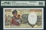 Banque Nationale Djibouti, specimen 10000 Francs, ND (1984), serial number S.001 00000, brown and re