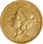 1857 Liberty Head Double Eagle. EF-45 (PCGS).