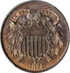 1871 Two-Cent Piece. Proof-66 BN (PCGS).