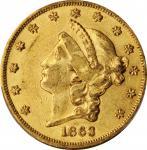 1863年自由帽双鹰金币 PCGS AU 53