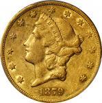 1879-CC Liberty Head Double Eagle. AU-50 (PCGS).