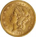 1855年自由女神双鹰金币 PCGS AU 53 1855-S Liberty Head Double Eagle