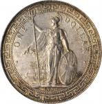 1897-B年英国贸易银元站洋一圆银币孟买铸币厂 GREAT BRITAIN. Trade Dollar, 1897-B. Bombay Mint. Victoria. PCGS MS-64 Gold