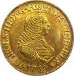 COLOMBIA. 4 Escudos, 1769-PN J. Popayan Mint. Charles III (1759-88). PCGS AU-53 Gold Shield.