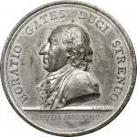 1777 Horatio Gates at Saratoga medal. Betts-557, Julian MI-2. Tin. Philadelphia Mint. Original dies.