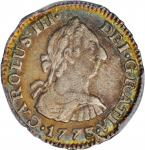 COLOMBIA. 1/2 Real, 1773-NR VJ. Nuevo Reino Mint. Charles III. PCGS Genuine--Corrosion Removed, EF D