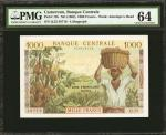 CAMEROON. Banque Centrale. 1000 Francs, ND (1962). P-12b. PMG Choice Uncirculated 64.