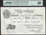 Bank of England, Kenneth Oswald Peppiatt (1934-1948), £5, London, 31 August 1935, serial number A/22