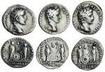 Augustus (27 BC-AD 14), AR Denarius (3), Lugdunum, c.2 BC-AD 4, laureate head right, caesar avgvstvs