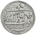 RADHANPUR: Zorawar Khan, 1825-1874, AR rupee (11.61g), Radhanpur, 1870/AH1286, KM-11, citing Queen V