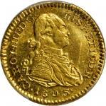 COLOMBIA. Escudo, 1803-JF. Popayan Mint. PCGS AU-58 Gold Shield.