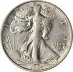 1919-D Walking Liberty Half Dollar. AU-53 (PCGS).