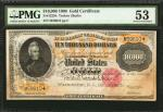 Fr. 1225h. 1900 $10,000 Gold Certificate. PMG About Uncirculated 53.