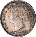 CANADA. 10 Cents, 1858. London Mint. Victoria. PCGS MS-62 Gold Shield.