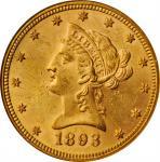 1893 Liberty Head Eagle. MS-62 (NGC).