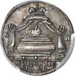 RUSSIA. Death of Peter the Great Silver Jeton, 1725. Catherine I (1725-27). PCGS SP-62 Secure Holder