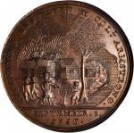 1756 (ca. 1860-1874) Colonel John Armstrong / Kittanning Destroyed. Original Dies Restrike. Bronze.