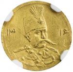 Lot 842 IRAN: Muzaffar al-Din Shah, 1896-1907, AV 5000 dinars, Tehran, AH1316, KM-994, surface hairl