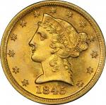 1845-D Liberty Head Half Eagle. Winter 12-I. MS-65 (PCGS). CAC.