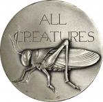 1976 All Creatures Great and Small. Silver. 73 mm. 227.5 grams. 999 fine. By Harvey Weiss. Alexander