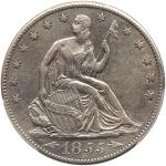 1855-S Liberty Seated Half Dollar. Arrows. PCGS EF45