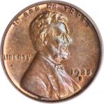 1925-S/S Lincoln Cent. FS-501. Repunched Mintmark. MS-63 RB (PCGS). CAC.