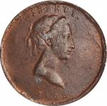 1792 (ca. 19th Century) Pattern Eagle-on-Globe Quarter Dollar. Copper-Plated Lead. Type of Judd-12,