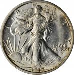 1917-D Walking Liberty Half Dollar. Obverse. MS-64+ (PCGS). CAC.