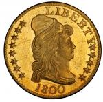 1800 Capped Bust Right Half Eagle. Bass Dannreuther-2. Rarity-3+. Mint State-64 (PCGS).