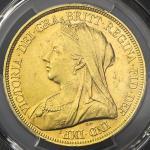 GREAT BRITAIN Victoria ヴィクトリア 5Pounds1893 PCGS-AU58 EF+