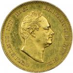 William IV (1830-37), gold pattern Groat, 3.38g, 12h, bare head right, rev. Britannia seated right d