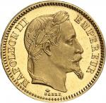 FRANCE Second Empire / Napoléon III (1852-1870). 20 francs tête laurée, Flan bruni (PROOF) 1861, A,