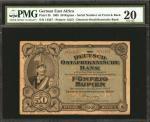 GERMAN EAST AFRICA. Deutsch-Ostafrikanische Bank. 50 Rupien, 1905. P-3b. PMG Very Fine 20.