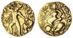 x Gupta Empire, Kumaragupta I (414-55), gold Dinar, 7.93g, lion-slayer type, standing king firing ar