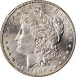 1887-S Morgan Silver Dollar. MS-65 (PCGS). OGH.