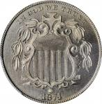 1874 Shield Nickel. MS-66+ (PCGS).