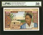 CAMEROON. Banque Centrale. 5000 Francs, ND (1962). P-13. PMG About Uncirculated 50.