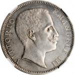 1901意大利5里尔银币 NGC MS 60