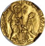 RHODES. Ducat, ND. Pierre dAubusson (1476-1503). NGC AU-58.