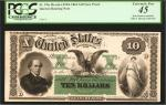 Fr. 196 (W-1226). Act of March 3, 1863. $10 5% One Year Note. Face Proof. Hessler X137A. PCGS Curren